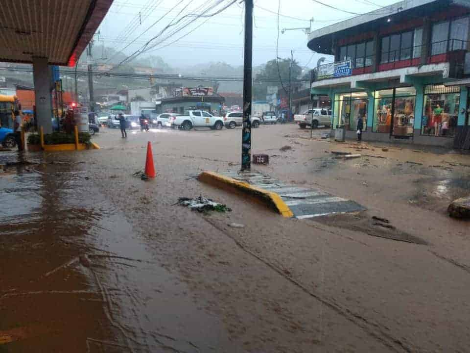 Flooding in Turrialba, Cartago, Costa Rica on July 22, 2021.