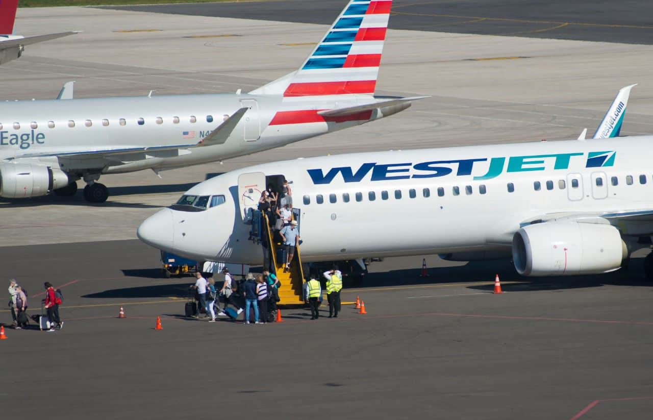 Planes at Daniel Oduber Quiros Airport in Liberia, Guanacaste, Costa Rica.