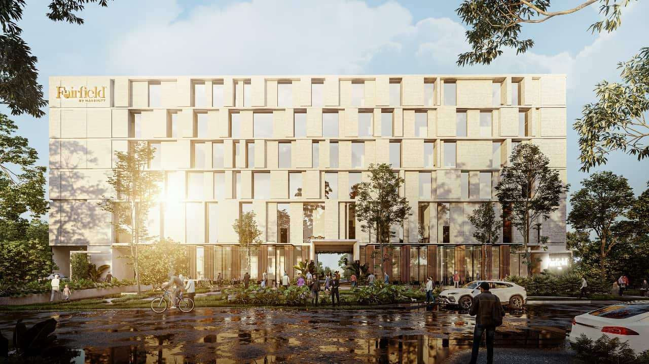 An artist's rendering of the upcoming Fairfield by Marriott in Costa Rica.